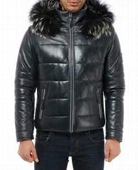 Valeriano Romano Leather Jacket Fur Coat Textile