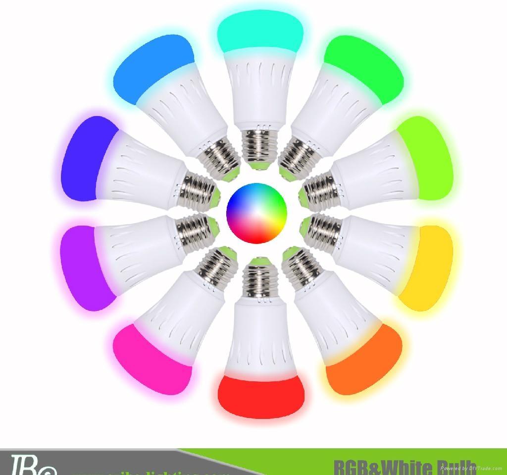 RGB smartphone control LED bulb light  2