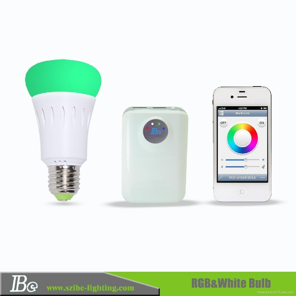 RGB smartphone control LED bulb light  3