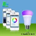 RGB smartphone control LED bulb light  4