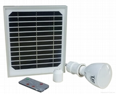 多功能太阳能板充电应急手电灯