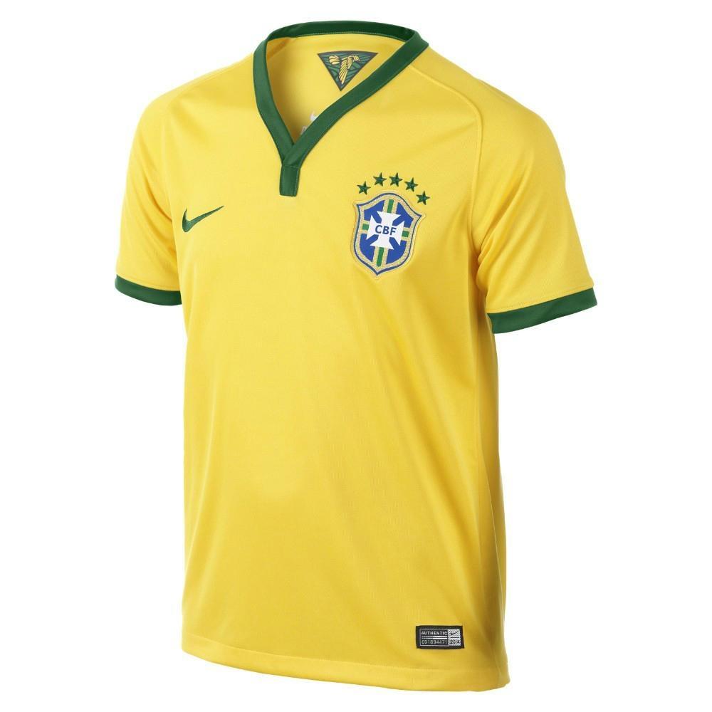 New Brazil 2014 World Cup Nation Home Yellow Soccer Jersey Uniform Man Woman 1