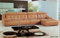 L.P606-Luxury Italy Corner Leather Sofa