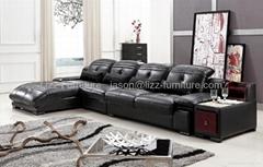 L.IMG7526J-Elegant Modern Leather Corner Sofas