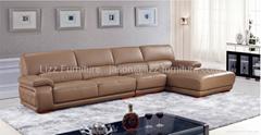Foshan Coffer Color Leather Sofa Set