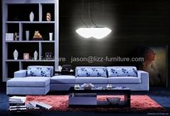L.A028J-China Lizz Grey Corner  Fabric Sofas America Style