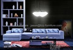 L.A028J-White Modern Corner Fabric Sofas