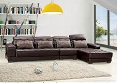 L.A2042J-America Style Leather Corner Sofa Living Room Sofas