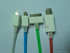 LED USB data cables (for Iphone 4,iPhone