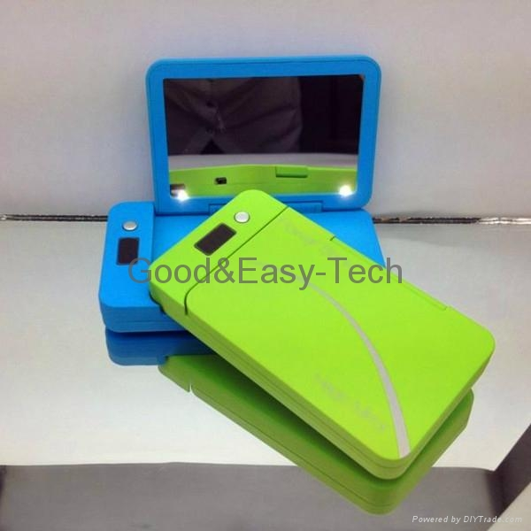 2014 mirror style 4000mAh power bank Emergency cell phone charger 1