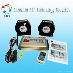 400W electronic police car siren amplifier AS830