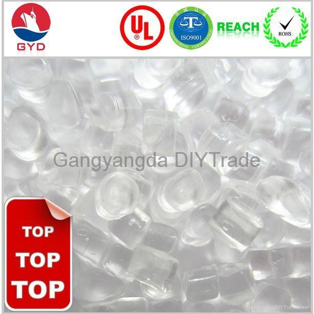 Flame retardant PC Transparent low halogen  raw material pc  FR PC resins 1