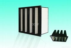 Rigid V bank filter for air intake compressor
