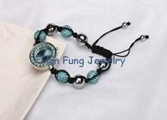 Aquamarine Crystal Shamballa Watch Bracelets Wholesale Shamballa Bead Bracelet a
