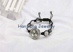 Clear Shamballa Watch Bracelet Handmade Fashion Shamballa Bead Bracelet for Men