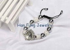 USA Style Clear Crystal Shamballa Watch Bracelet Wholesale Fashion Shamballa Bea