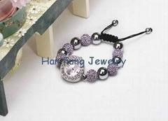 USA Style Light Amethyst Crystal Shamballa Watch Bracelet Wholesale Fashion Sham