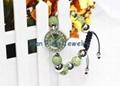 Peridot Crystal Shamballa Watch Bracelet Wholesale Fashion Green Shamballa Bead  1