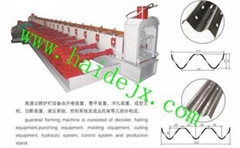 Haide forming machine for highway guardrail board