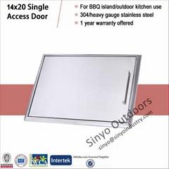 Stainless Steel Barbecue Grill 14x20 Single Access Door