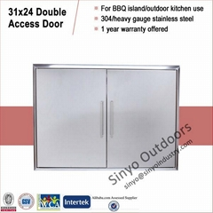 Stainless built in barbeque island 31 inch double access door
