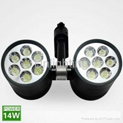14W black LED track lights