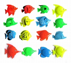 Plastic toy fish blocks