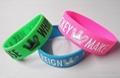 Bulk  cheap custom silicone wristband for promotion 1