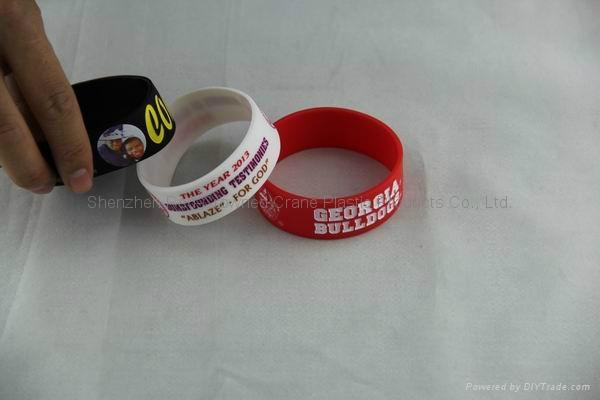 Bulk  cheap custom silicone wristband for promotion 4