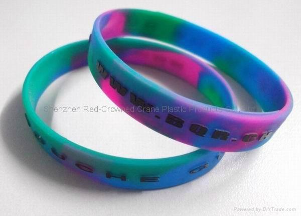 Bulk  cheap custom silicone wristband for promotion 5