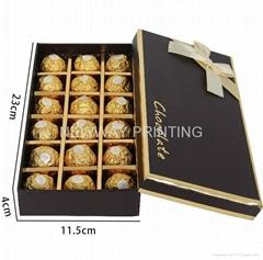 Chocolate gift paper box