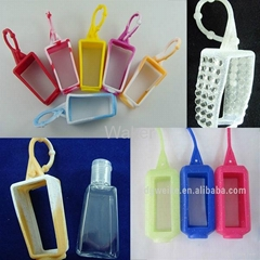 2014 hot sales 3d animal shape silicone hand sanitizer holder with glitter