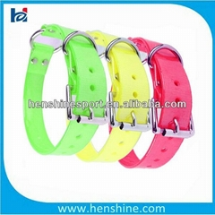 anti-aging fashinable TPU dog collar with center ring