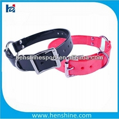 colorful durable TPU dog collar with a center ring