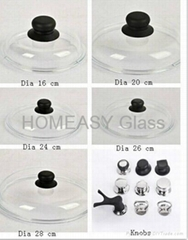 Round Pyrex clear Glass Lid for pot