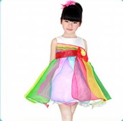 米休多多童裝公主裙夏新款六一儿童節禮服表演服廠家直銷低價批發