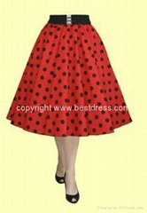 New Ladies Styles 50s Rockabilly Vintage Swing Dress Red Dress Polka Dots Dress