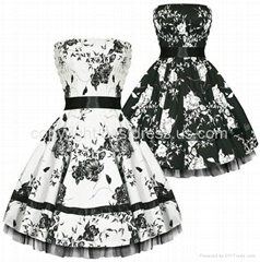 2014New Vintage Floral Print Retro 50s60s swing Pinup Rockabilly Housewife Dress