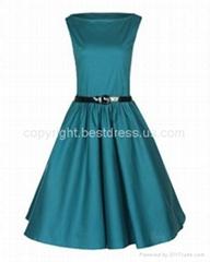 2014NewAudrey Hepburn Style Vintage 1950s Rockabilly Swing Pin Up Evening Dress