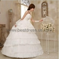 New white/ivory Organza wedding dress Bridal Gown New ModelFashion Wedding Dres  2