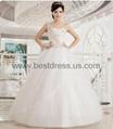 New white/ivory Organza wedding dress Bridal Gown New ModelFashion Wedding Dres  1