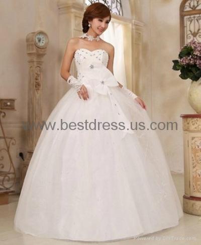 New white/ivory Organza wedding dress Bridal Gown New ModelFashion Wedding Dres  3