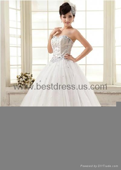 New white/ivory Organza wedding dress Bridal Gown New ModelFashion Wedding Dres  4