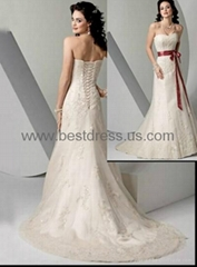 2014Charming Slim Fishtail Wedding Dress Trailing Wedding Dress