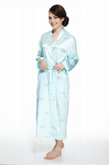 Floral Satin Bathrobe