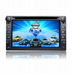 7 inch car gps navigation with bluetooth av-in FM