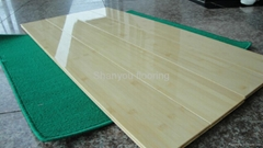 white natural bamboo flooring