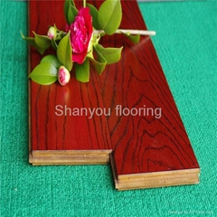 Hand scrapped bamboo flooring