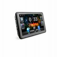 7 inch three-in-one car gps navigation with radar detector+DVR+Bluetooth+AVIN