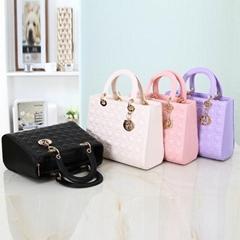 2014 new style euramerican fashion lattice candy colors framed handbags,shoulder